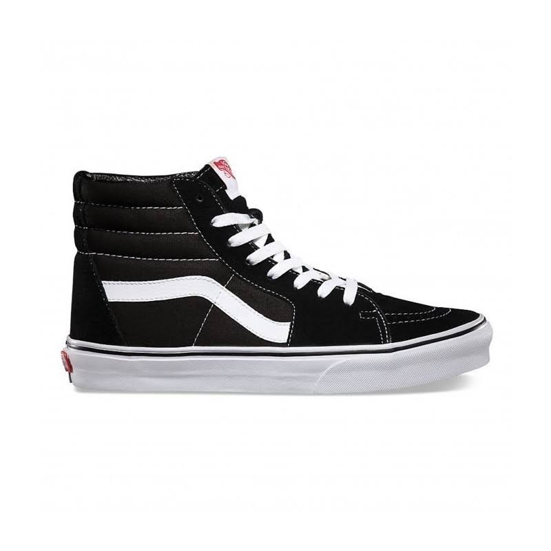 Vans Unisex Sk8-Hi Sneaker - 5.5, Black and White