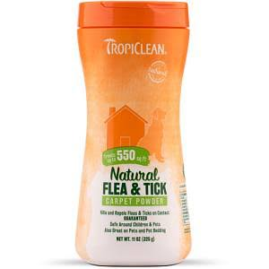 Tropiclean Natural Flea & Tick Carpet Powder - 325g