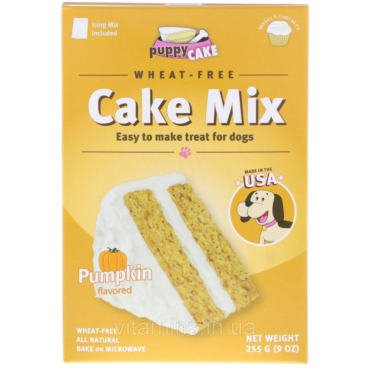 Puppy Cake Wheat-Free Cake Mix for Dogs - Pumpkin, 255g