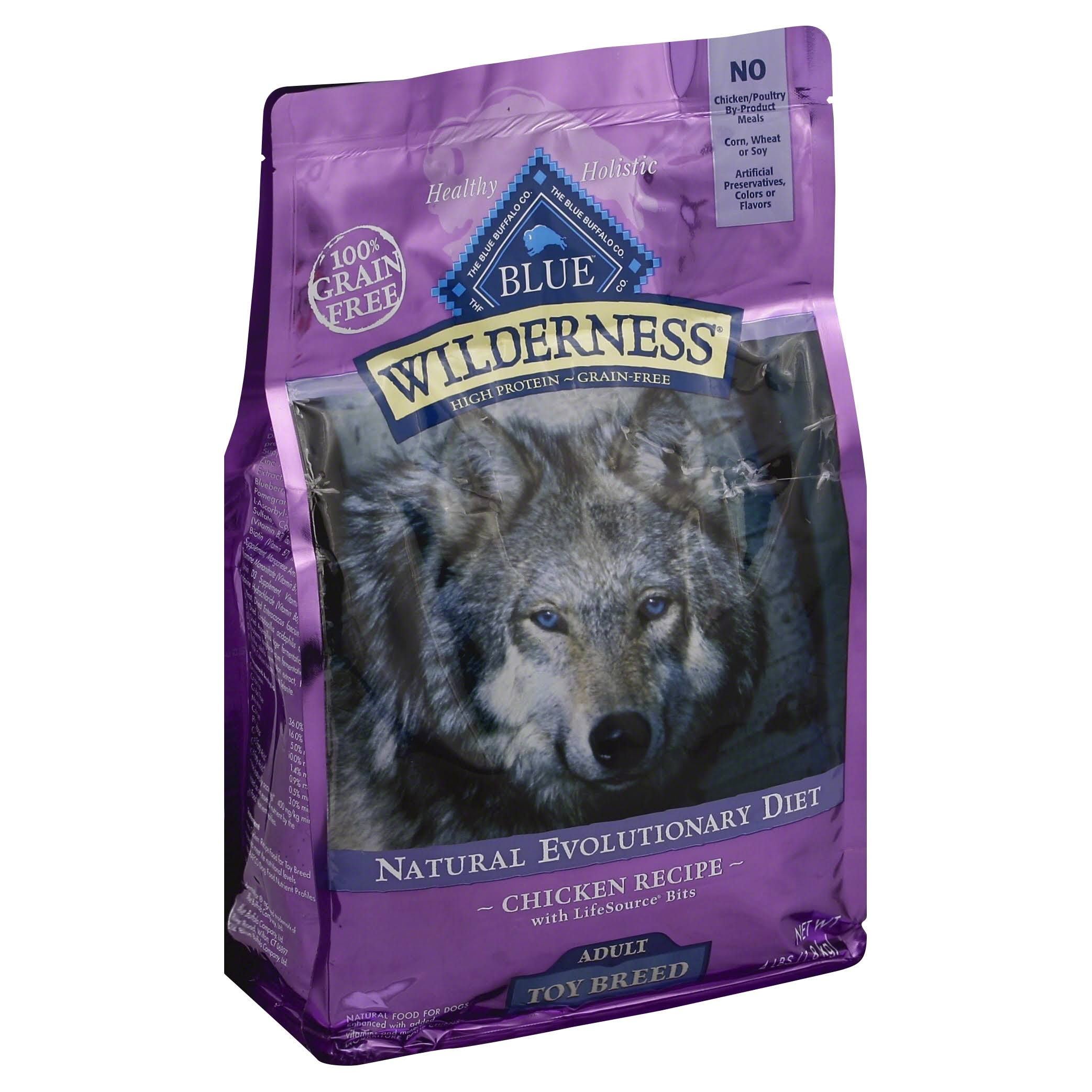 Blue Buffalo Blue Wilderness Grain Free Chicken Formula Toy Breed Adult Dog Food - 4lb