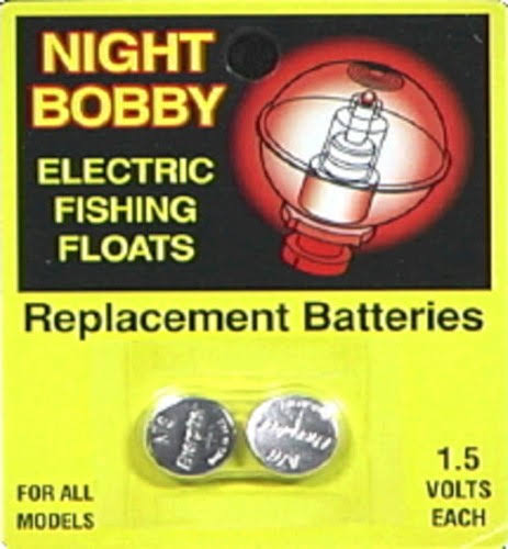 Night Bobby Electric Fishing Floats Replacement Batteries - 1.5V, x2