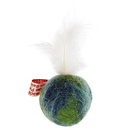 One Pet Planet Wooly Fun Cat Toy - Feather Ball