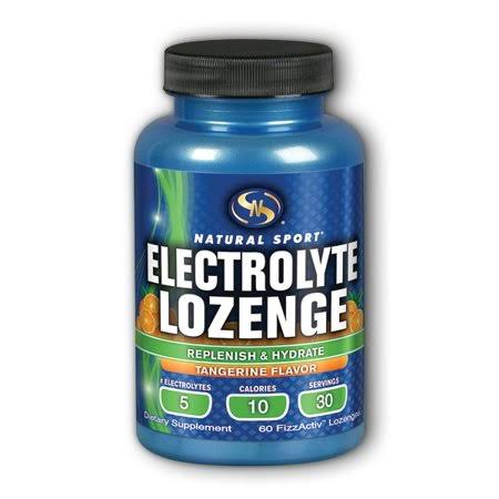 Natural Sport Electrolyte Harmony FizzActiv Lozenges - Tangerine, x60