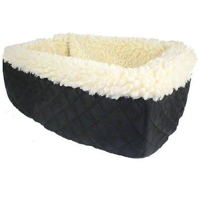 Snoozer Console Pet Car Seat - Cream Fur, Black