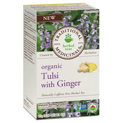 Traditional Medicinals Organic Tulsi with Ginger
