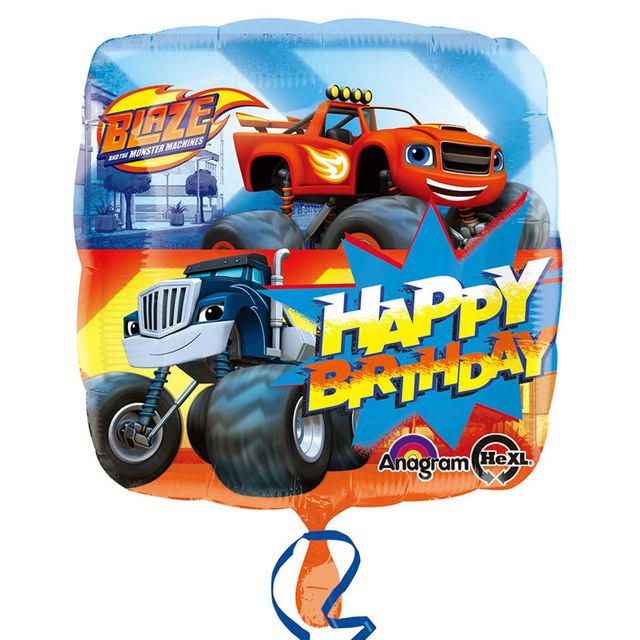 Amscan Blaze and The Monster Machine Truck Foil Balloon