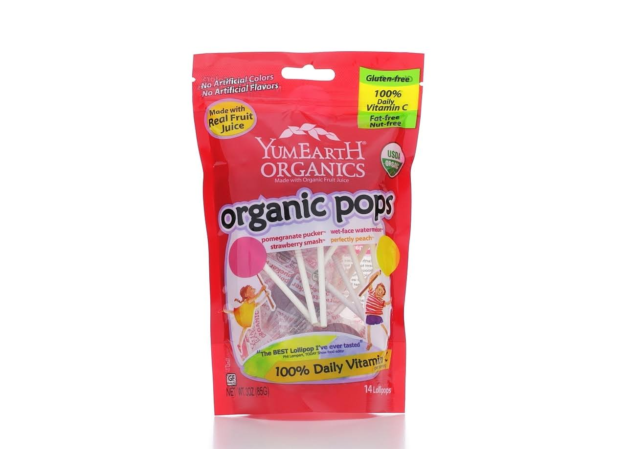 Yummy Earth Organic Fruit Lollipops - 15 Lollipops, 3oz