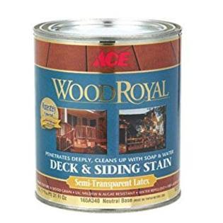 Ace Wood Royal Deck and Siding Stain Semi Transparent Latex - Neutral, 31oz