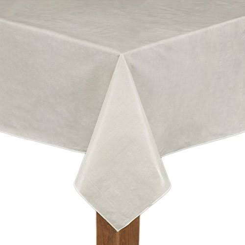 Cafe Deauville Ivory 52x52 Vinyl Tablecloth | Textiles | Free Shipping on All orders | Delivery Guaranteed | 30 Day Money Back Guarantee