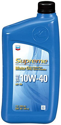 Chevron Supreme Motor Oil - SAE 10w-40