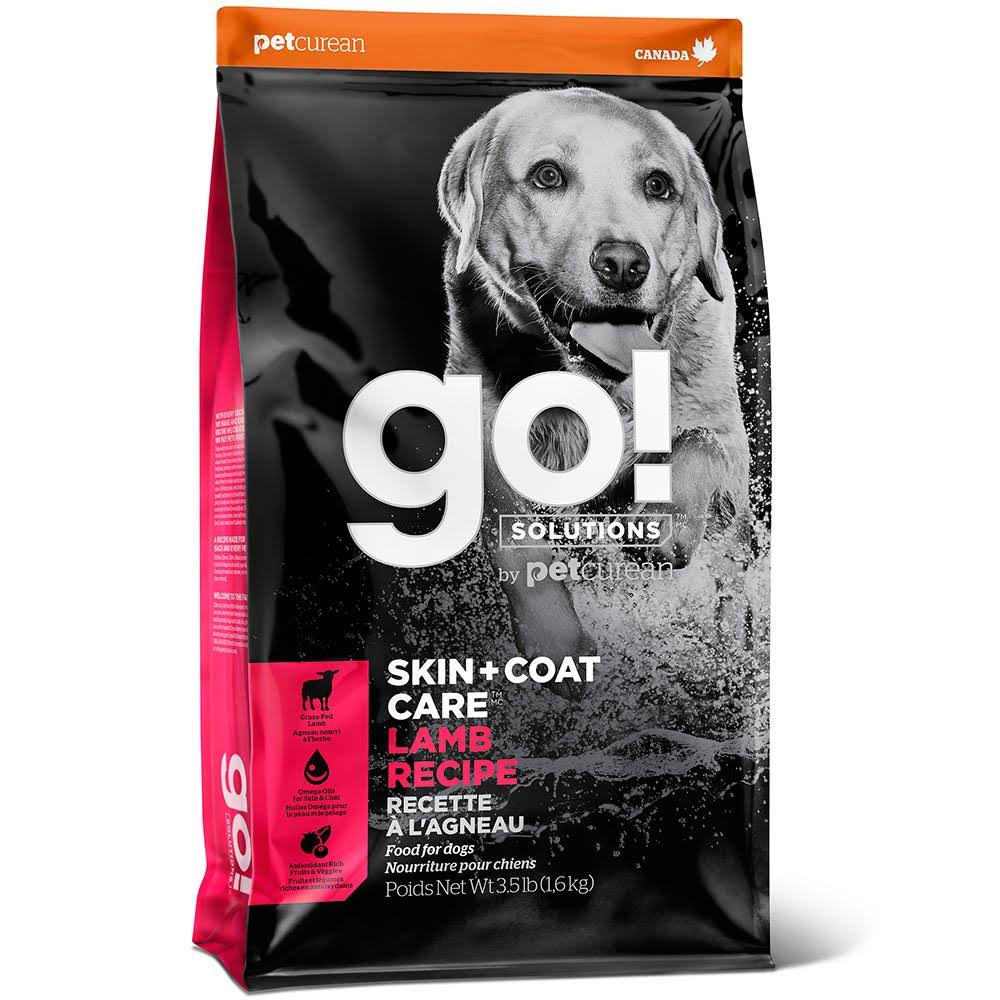 Go! Solutions Skin + Coat Care Lamb Recipe Dry Dog Food, 25 lb