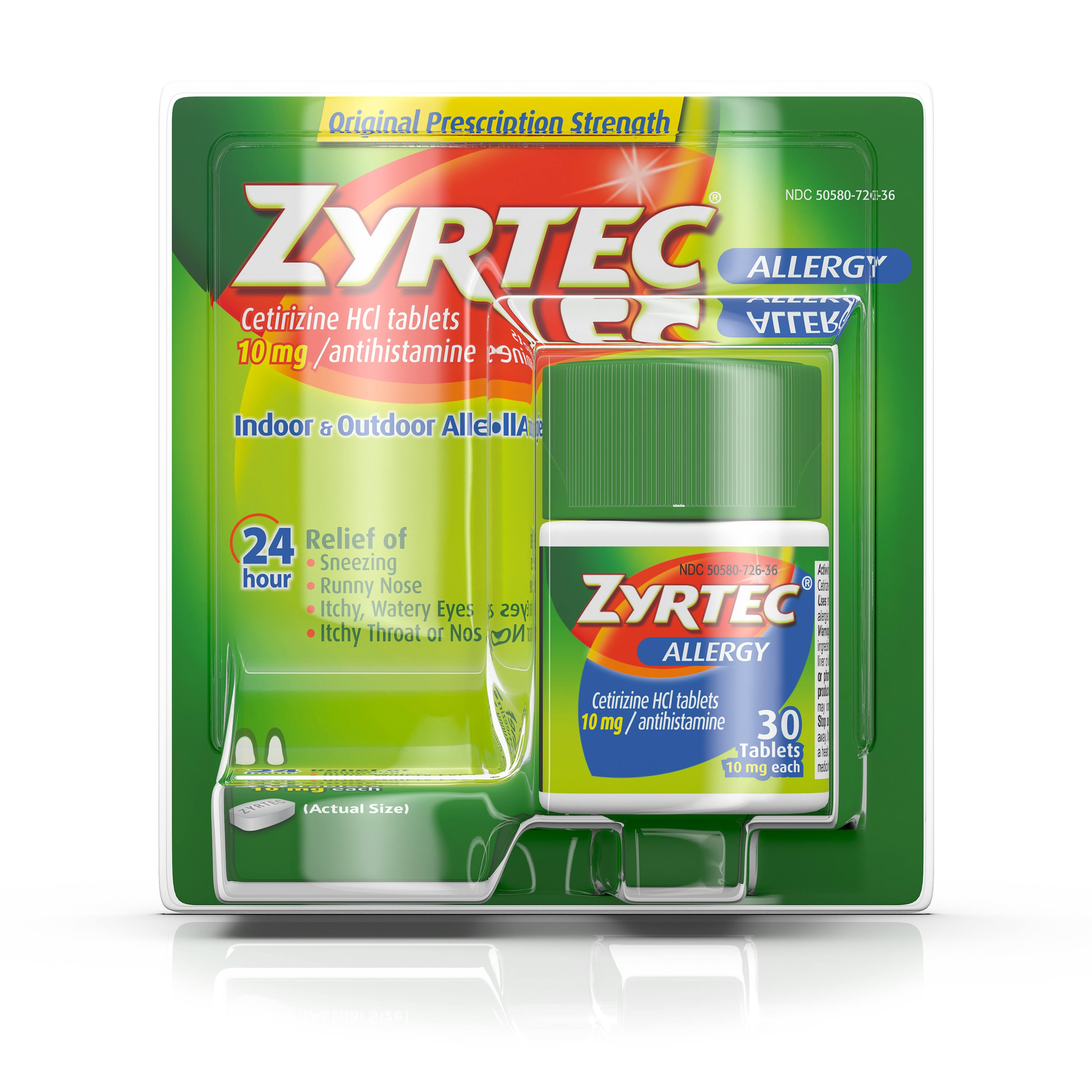Zyrtec Allergy Relief - 10mg, 30 Tablets