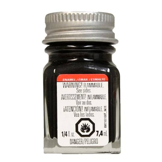 Black Metallic Enamel Paint Testors 1/4 oz