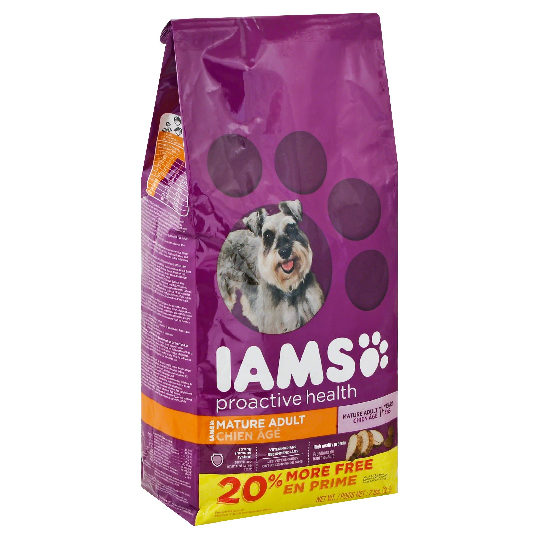 IAMS Proactive Health Senior and Mature Adult Dry Dog Food - 7lb