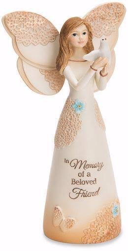 Pavilion Gift in Memory of a Beloved Friend Angel with Dove Figurine - 5.5""