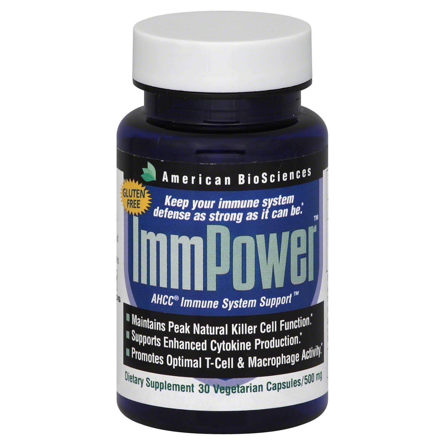 American Biosciences ImmPower Ahcc Immune System Support Supplement - 500mg, 30ct