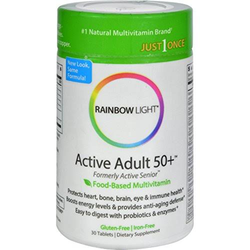 Rainbow Light Active Adult 50+ Multivitamin - 30 tablets