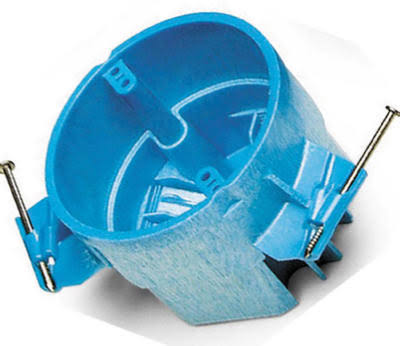 Thomas & Betts Hard Shell Ceiling Box - Blue, 25 cu. in