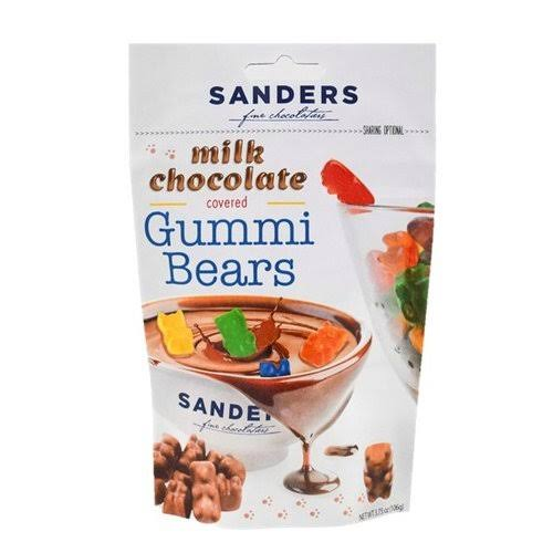 Chocolate & Fudge Chocolate Covered Gummi Bears Pouch - 3.75oz