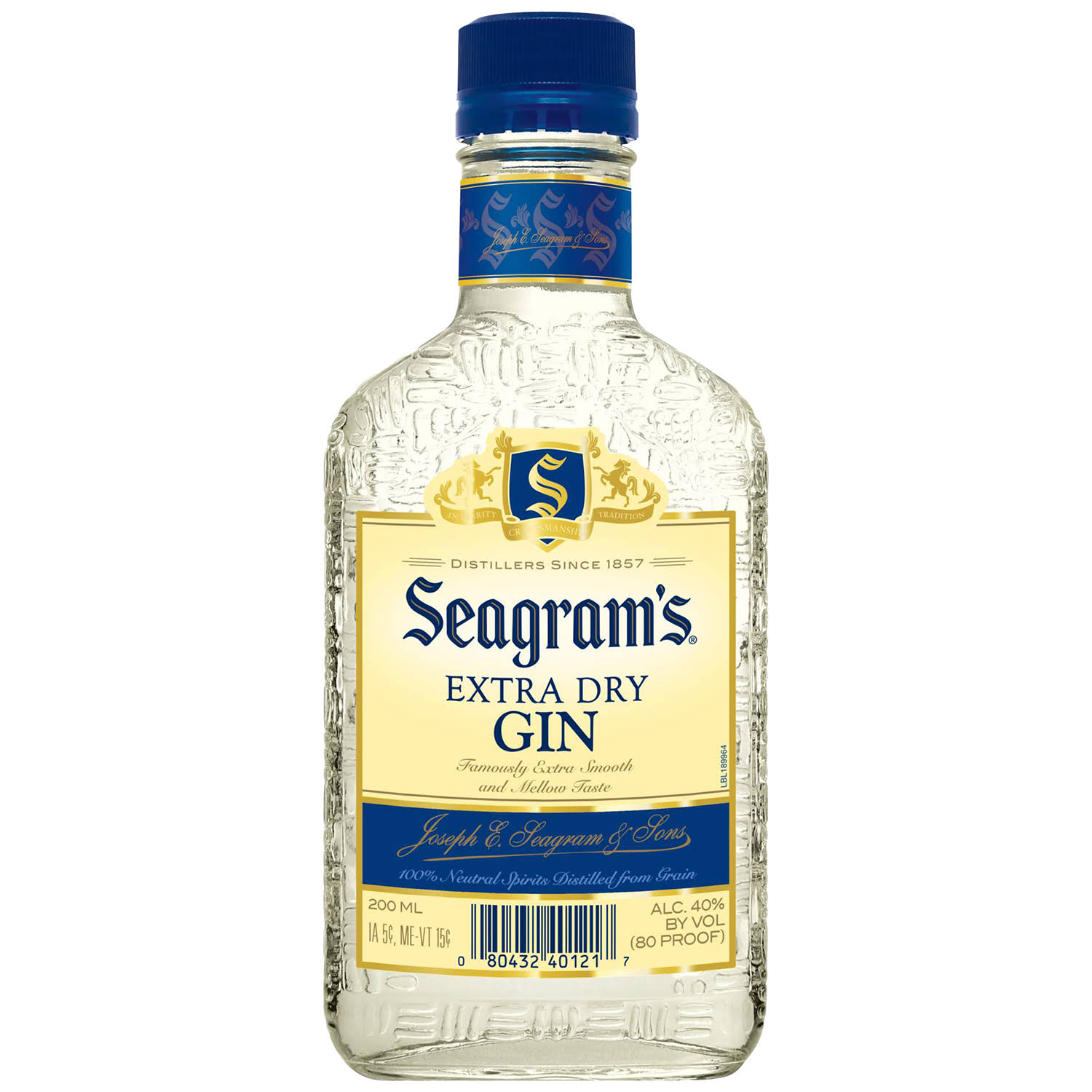 Seagram's Gin Extra Dry 200ml Bottle