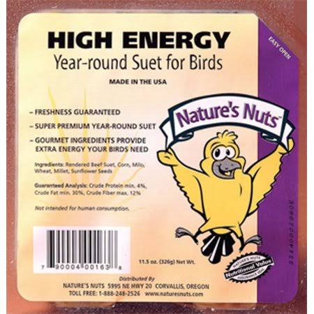 Chuckanut Products 00163 11.5 oz High Energy Suet
