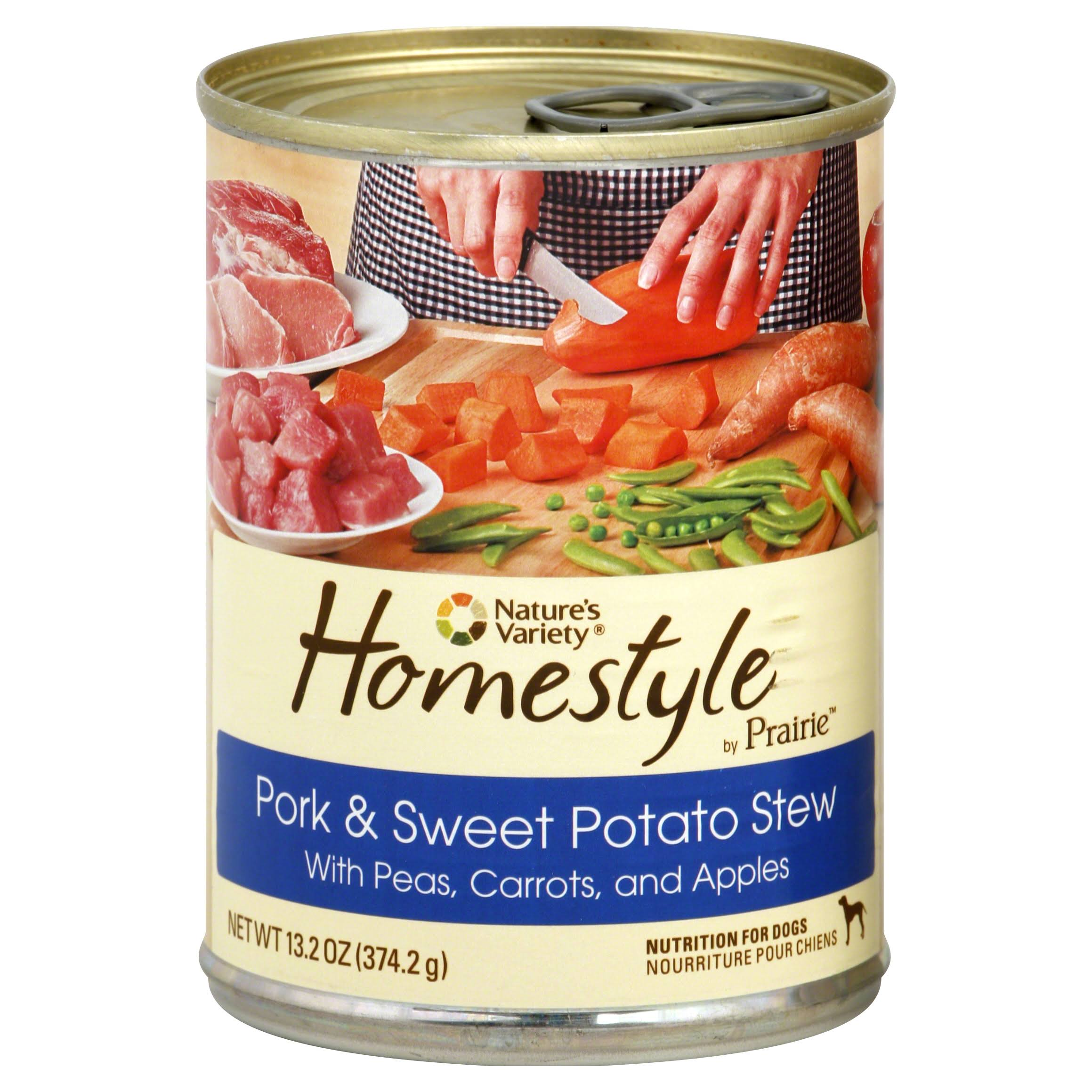 Nature's Variety Homestyle by Prairie Pork and Sweet Potato Stew Canned Dog Food - 13.2oz