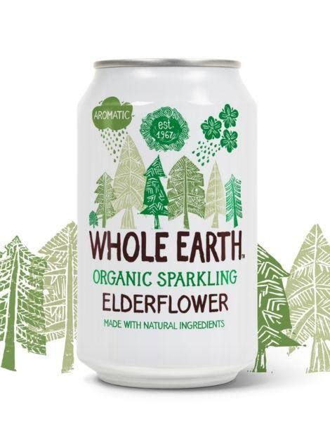 Whole Earth Organic Sparkling Elderflower Drink - 330ml