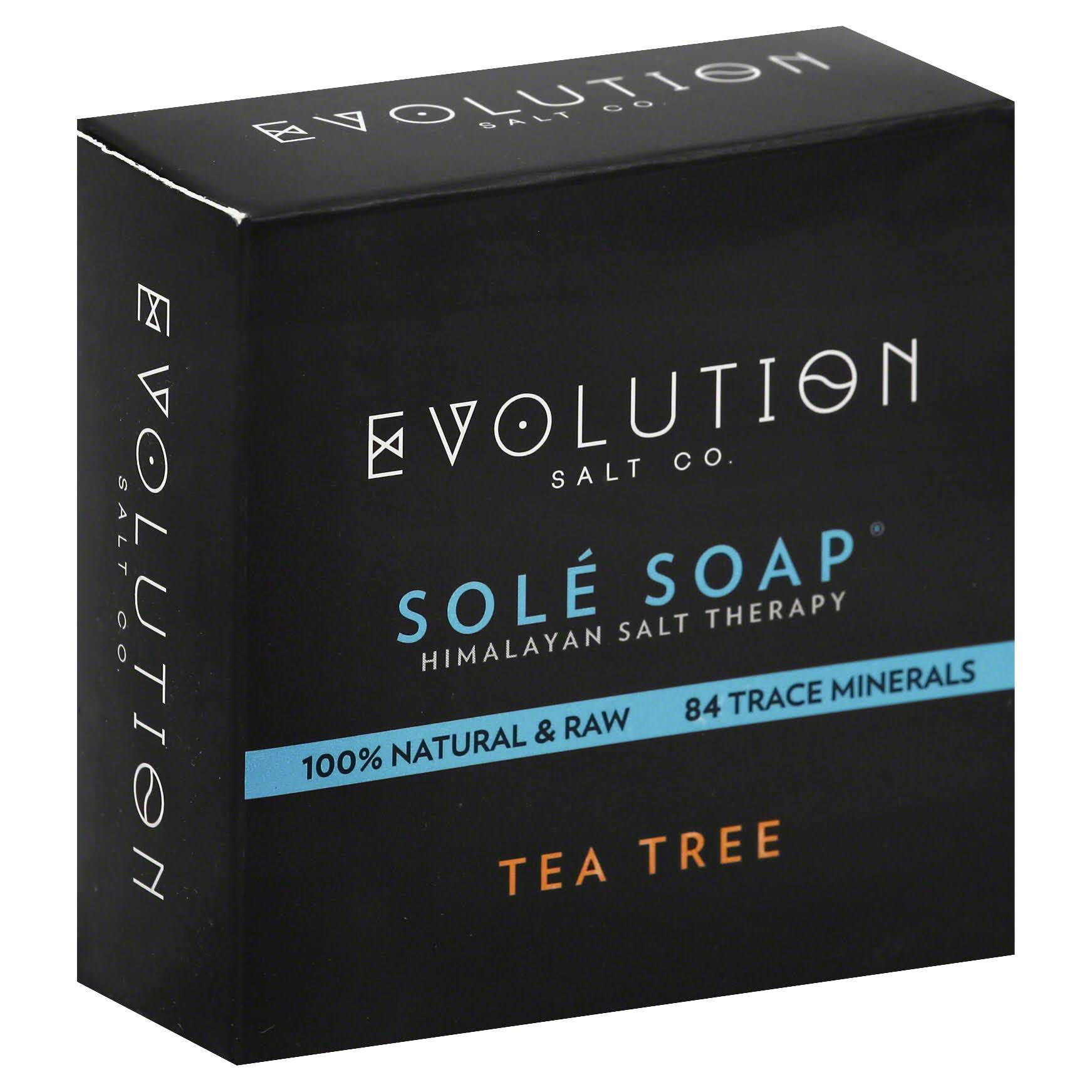 Evolution Salt Soap, Sole, Tea Tree - 4.5 oz