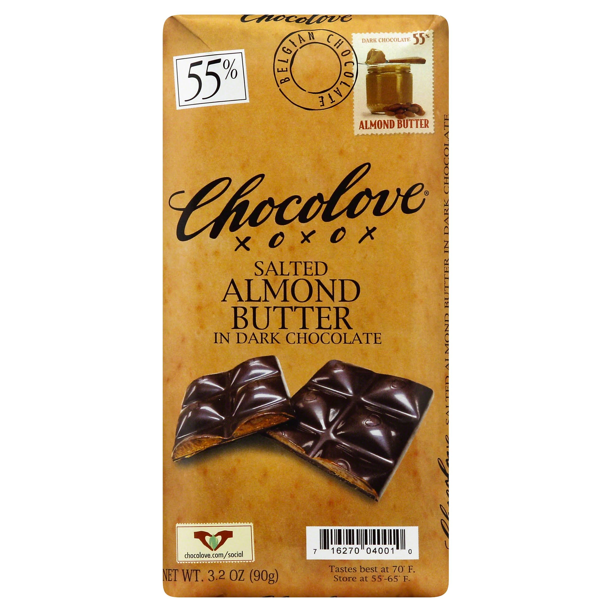 Chocolove Salted Almond Butter In Dark Chocolate
