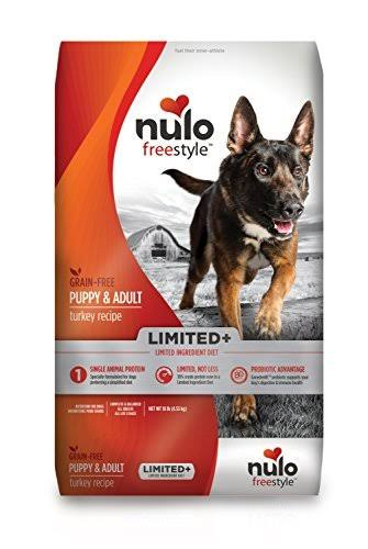 Nulo Freestyle Limited+ Grain Free Turkey Recipe Puppy & Adult Dry Dog Food, 10-lb