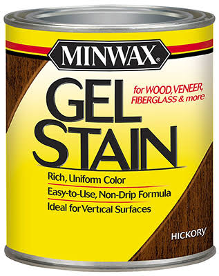 Minwax Interior Wood Gel Stain - Hickory, 1/2 pint