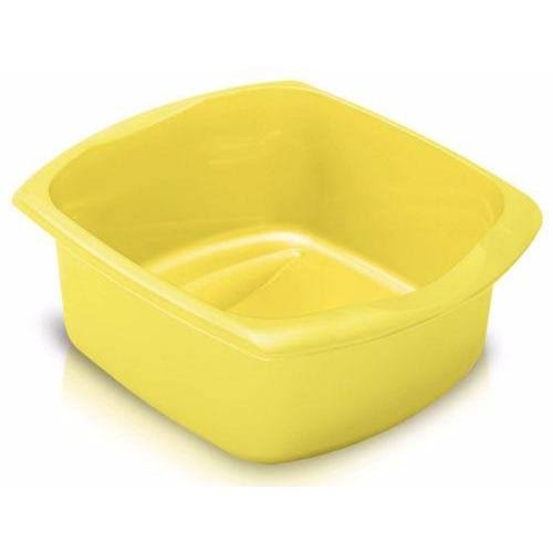 Addis Essentials Rectangular Washing-Up Bowl Basin - Yellow, 9.5l