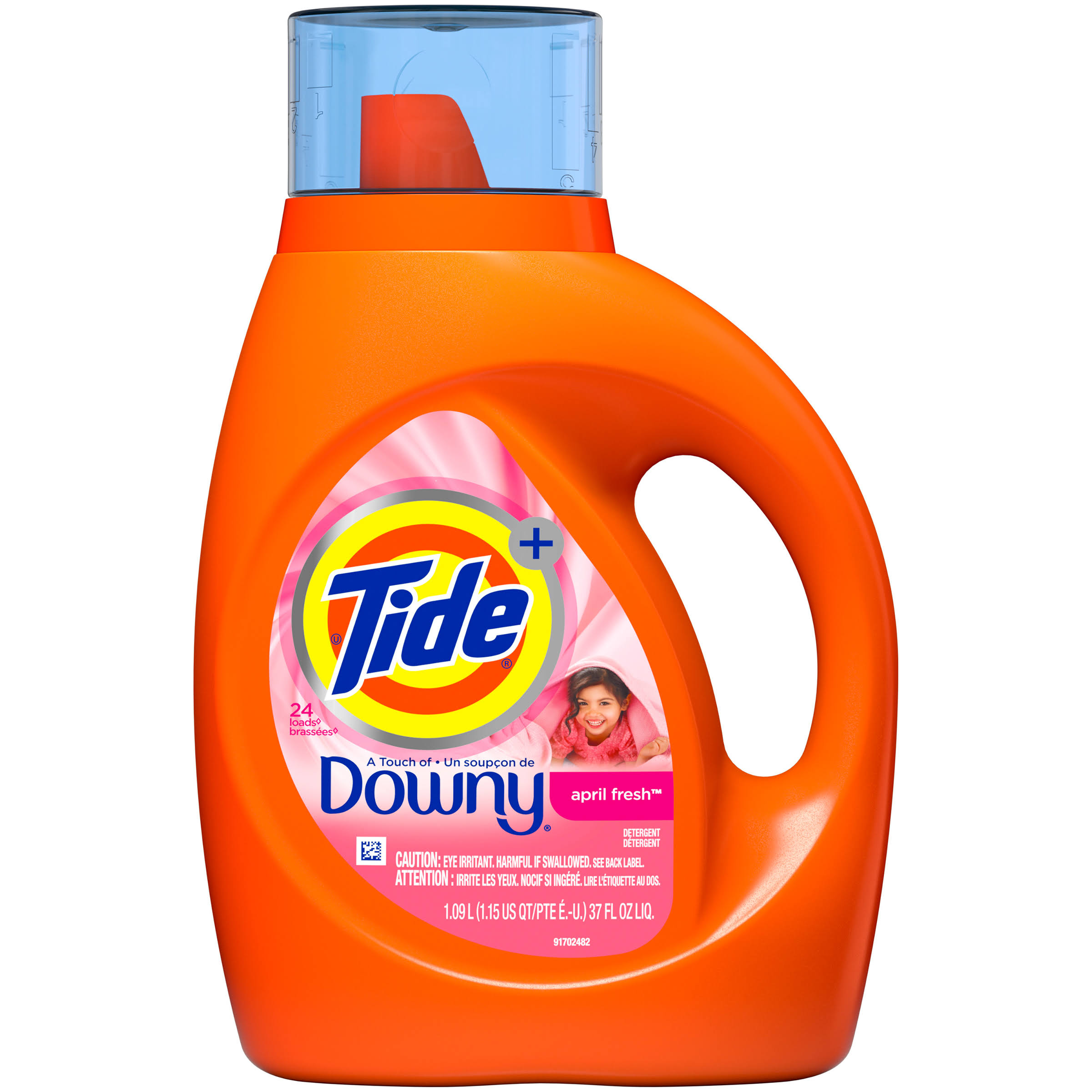 Tide Plus a Touch of Downy Liquid Laundry Detergent - April Fresh Scent, 40oz