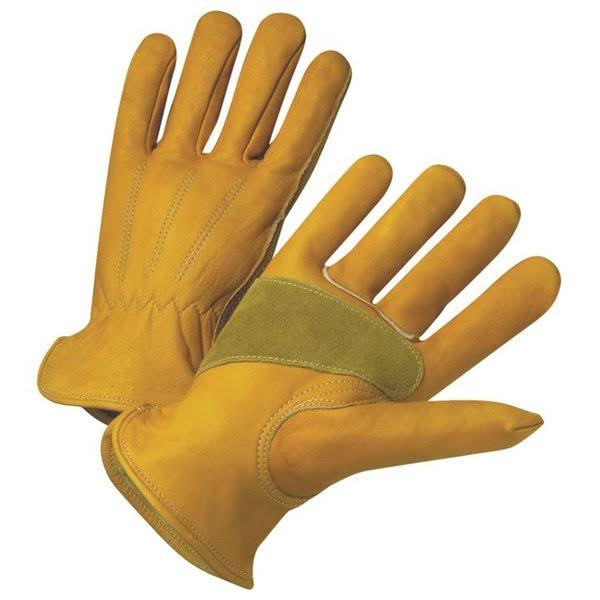 West Chester Protective Gear Cowhide Leather Work Gloves - Medium