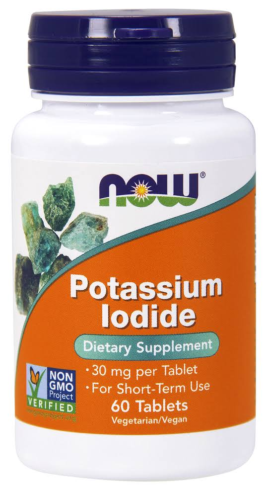 Now Foods Potassium Iodide Dietary Supplement - 30mg, 60 Tablets