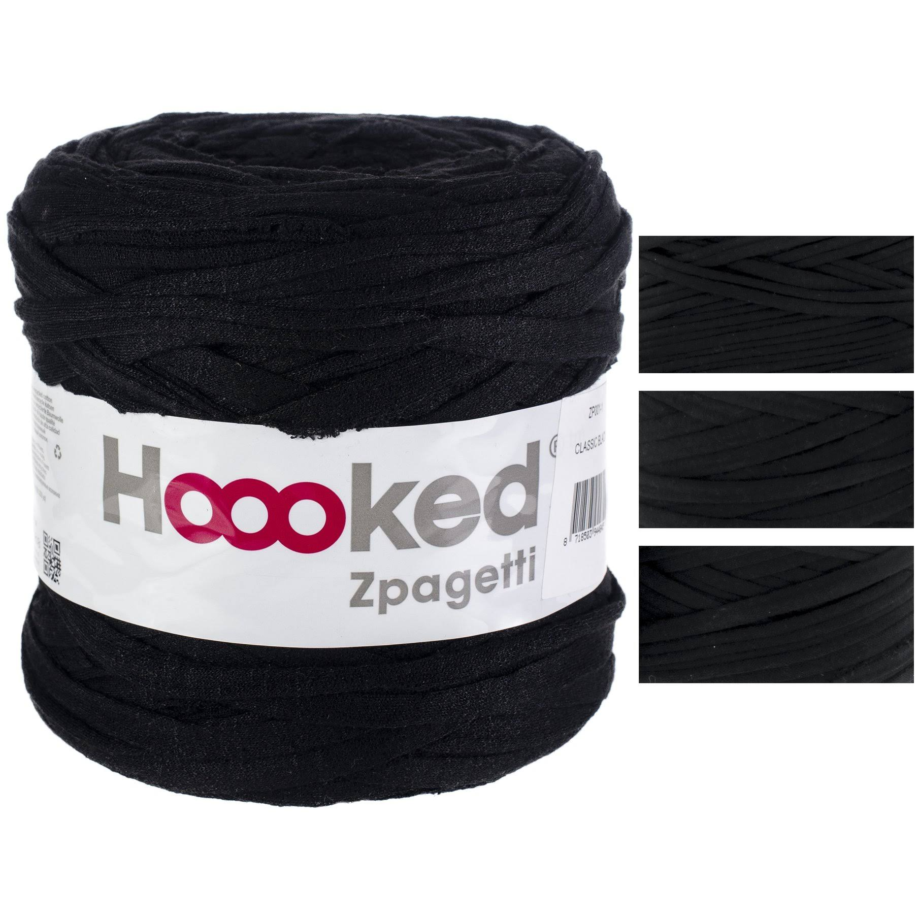 Hoooked Zpagetti Yarn Classic Black - Pure Black Shades