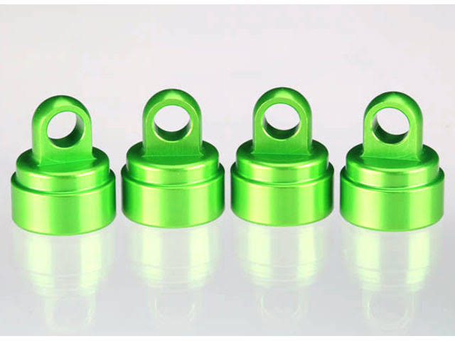 Traxxas 3767G Ultra Shock RC Vehicle Aluminum Shock Caps - Green