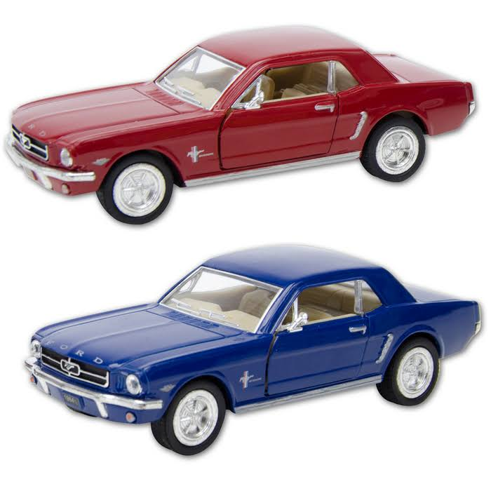 Schylling Die Cast 1964 Ford Mustang Car Toy - Colors Vary