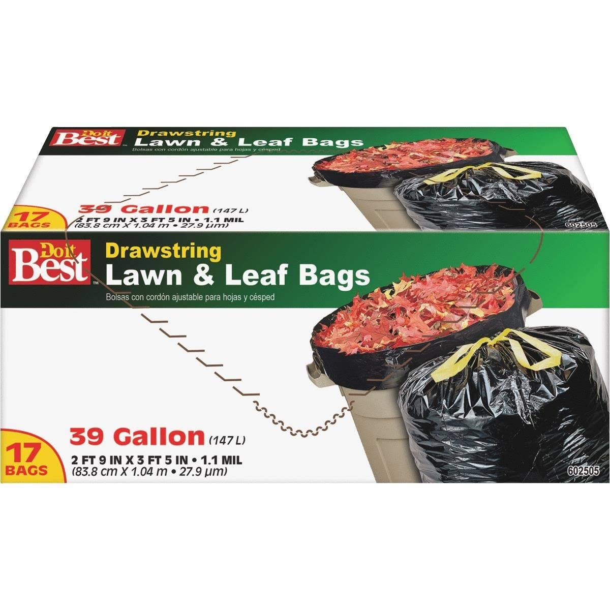 Do It Best Drawstring Lawn & Leaf Bag - 17 Bags