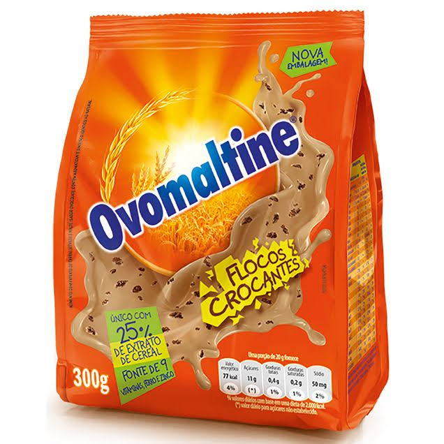 Ovomaltine Chocolate Drink - With Flakes, 300g