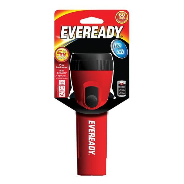 Eveready Economy LED Flashlight - Red