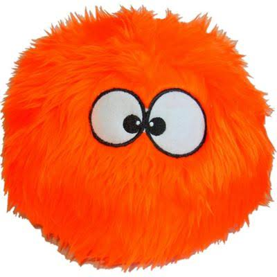 Furballz Tough Plush Dog Toy with Chew Guard Technology - Orange, Large