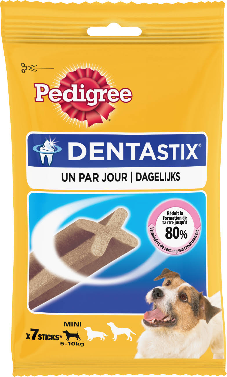 Pedigree Dentastix Daily Small Dog Treats Dental Chews - 7 Sticks