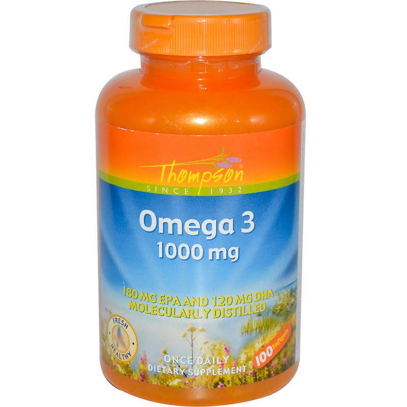 Thompson Omega 3 Fish Oil Dietary Supplement - 100 Softgels
