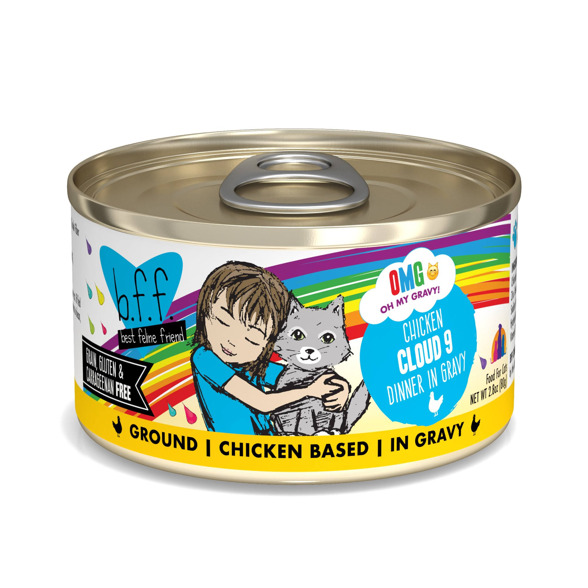 Weruva BFF OMG Cloud 9 Chicken Canned Cat Food, 2.8 oz.