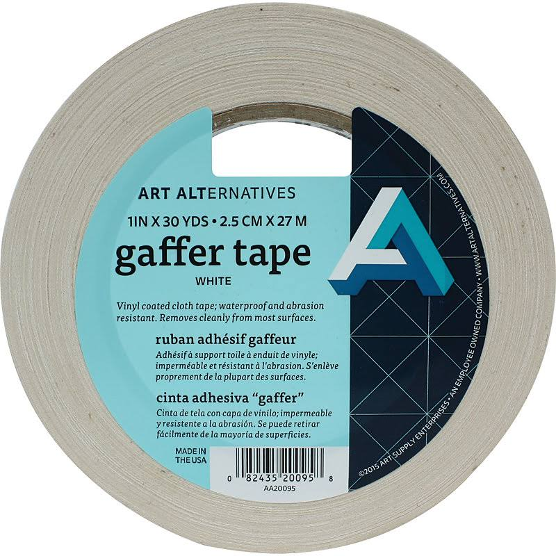"Art Alternatives - Gaffer Tape - 1"" Wide - White"