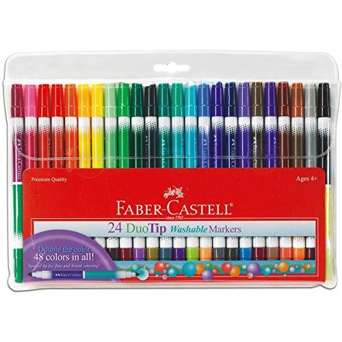 Faber-Castell Duo Tip Washable Markers - 24 Pack