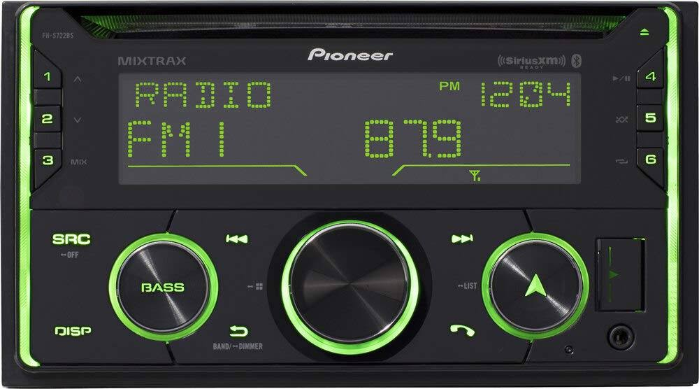 Pioneer Double Din CD Receiver - with Built-In Bluetooth, Black