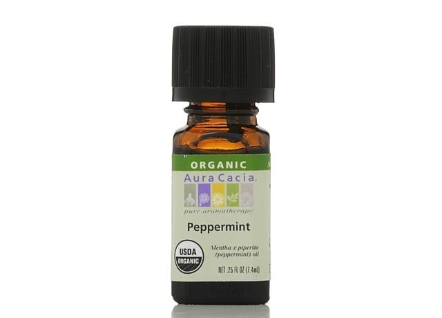 Aura Cacia Organic Essential Oil - Peppermint, 0.25oz