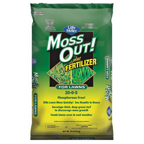 Lilly Miller Moss Out Moss Control Weed Control - Plus Fertilizer, 20lbs